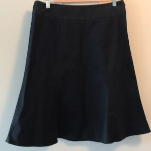 Gap black, flared skirt